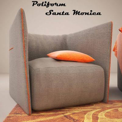 Poliform Santa Monica 16317 Armchair 3D Model