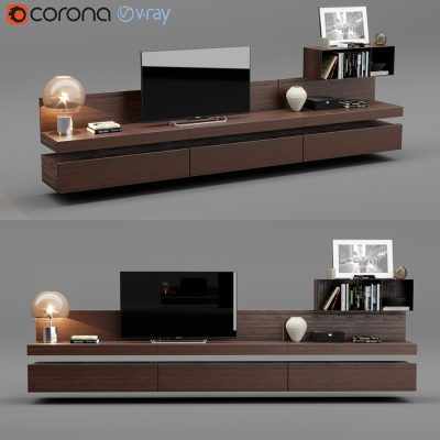 Poliform Sintesi Tv Unit 3D Model (2)