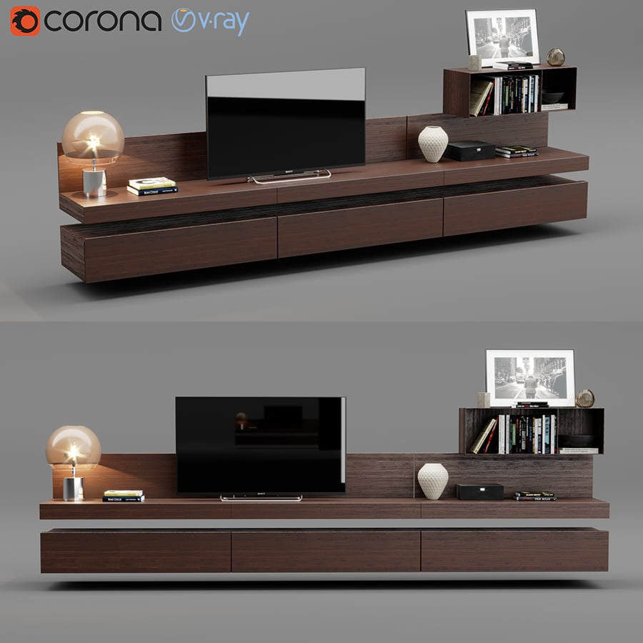 Poliform Sintesi Tv Unit 3d Model For Download Cgsouq Com