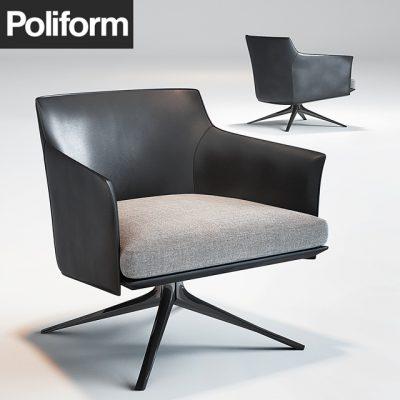 Poliform Stanford Armchair 3D Model