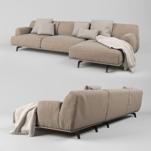 Poliform Tribeca Sofa Set-02 3D Model 2