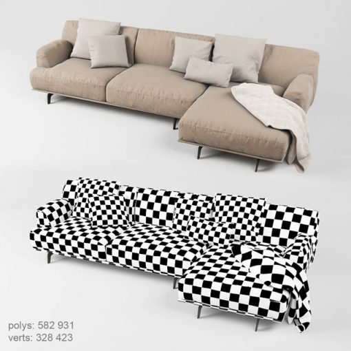 Poliform Tribeca Sofa Set-02 3D Model 3