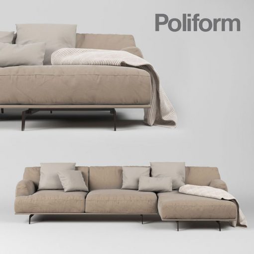 Poliform Tribeca Sofa Set-02 3D Model