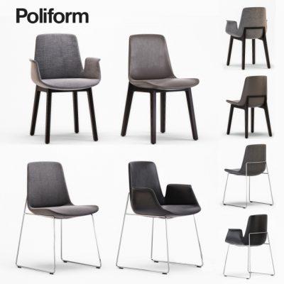 Poliform Ventura Chair 3D Model