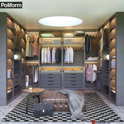 Poliform Wardrobe 3D model1
