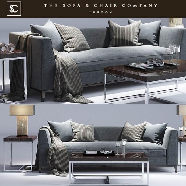 Astounding The Sofa And Chair Company Pollock Sofa 3D Model Creativecarmelina Interior Chair Design Creativecarmelinacom