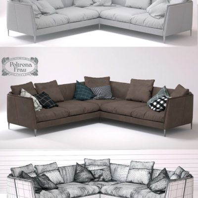 Poltrona Frau Bretagne Corner Sofa 3D Model