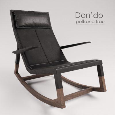 Poltrona Frau Don'do Armchair 3D Model