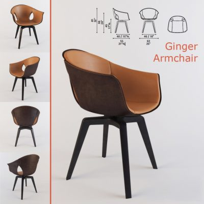 Poltrona Frau Ginger Armchair 3D Model