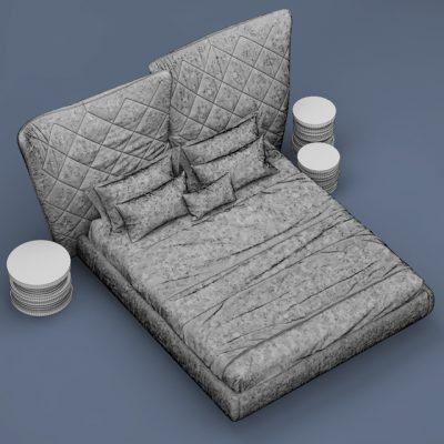 Poltrona Frau Lelit Bed 3D Model