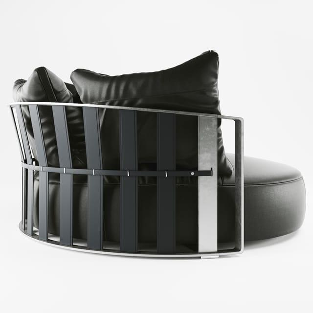 Poltrona Frau Scarlet Sofa 3D Model 2