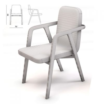Porada Dinner Chair 3D Model