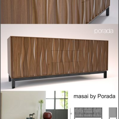 Porada Masai Sideboard 3D Model