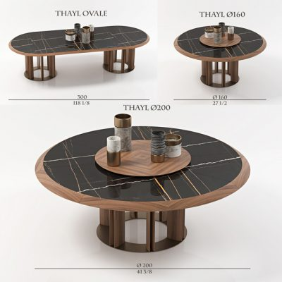 Porada Thayl Table Set 3D Model