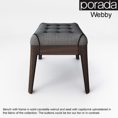 Porada Webby Bench 3D Model