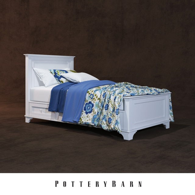 Pottery Barn 004 Bed 3D Model