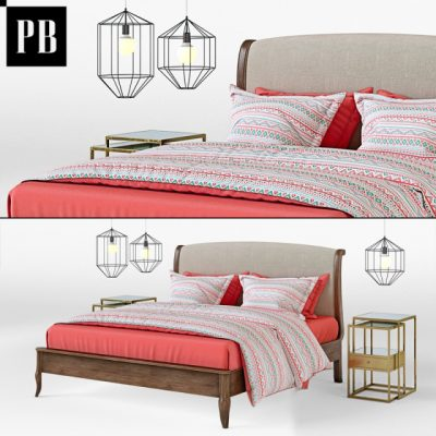 Pottery Barn Calistoga Bed 3D Model