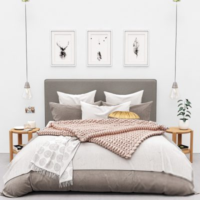 Pottery Barn Raleigh Bed 3D Model