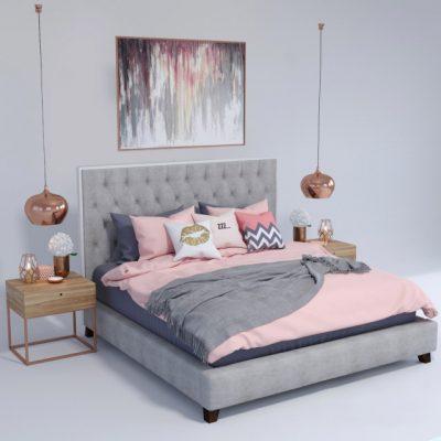 Prague Bed 3D Model
