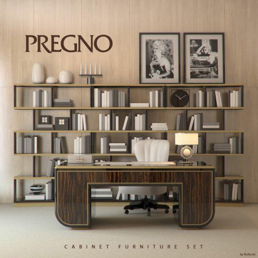 Pregno Cabinet Set 3D Model