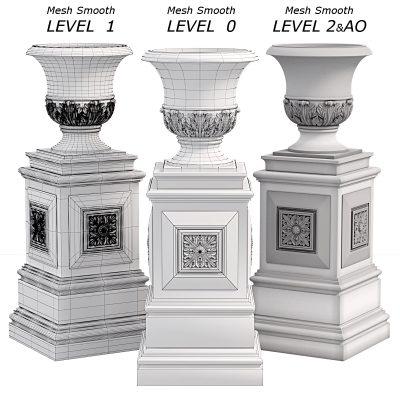 Classic vase 3D model