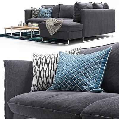 Pohjanmaan Flippep Sofa 3D Model