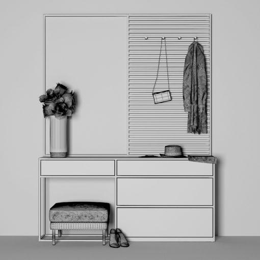 Prihojaya Dresser & Console Set-1 3D Model 5