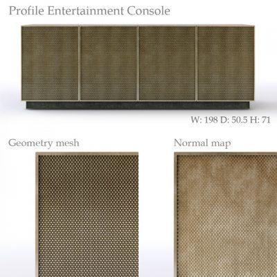Profile Entertainment Console 3D Model