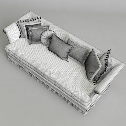 Provasi Dorian PR1221-718 Sofa 3D Model 2