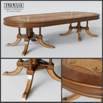 Provasi Oval Table 3D Model