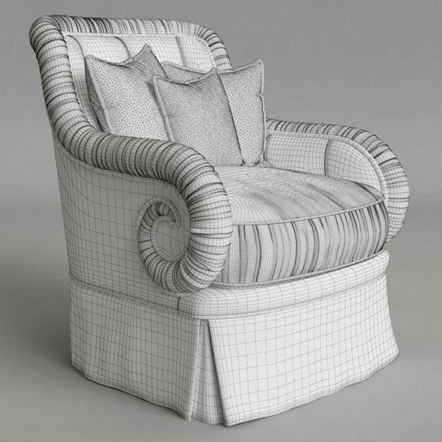 Provasi PR 2942-605 Armchair 3D Model 4