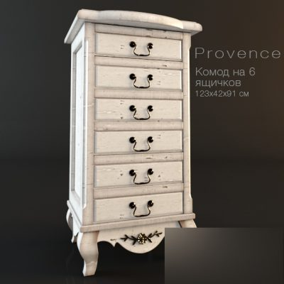 Provence Chest Style – Chest of Drawers 3D Model