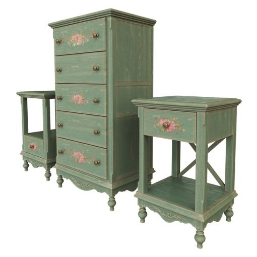 Provence Furniture Chest & Wardrobe 3D Model 3