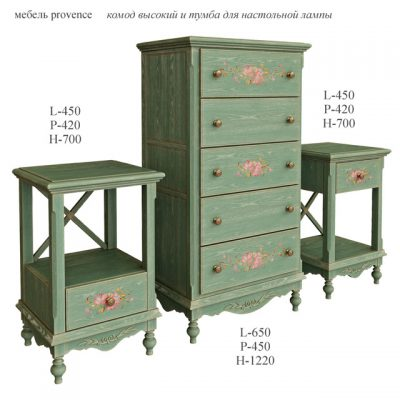 Provence Furniture Chest & Wardrobe 3D Model