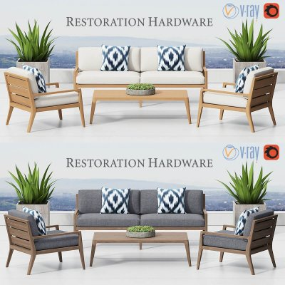 RH DIRECTOR'S COLLECTION Outdoor Furniture 3D model
