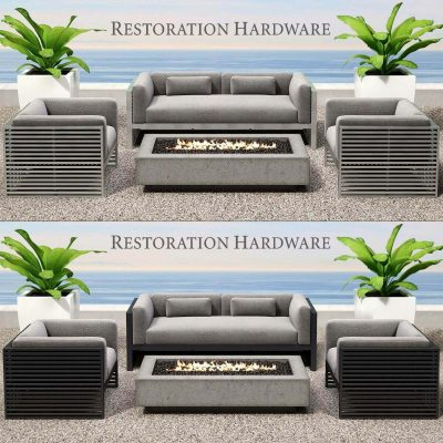 Restoration hardware Cadiz Collection Outdoor furniture 3D model