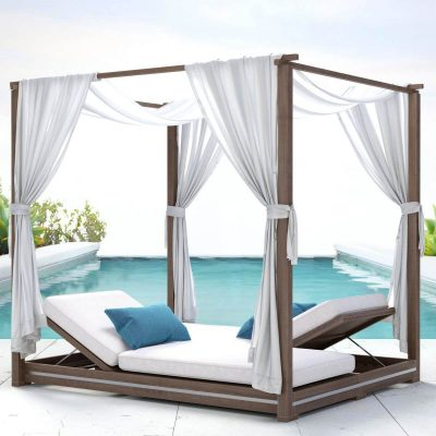 RH Malta Canopy Double Chaise 3D model