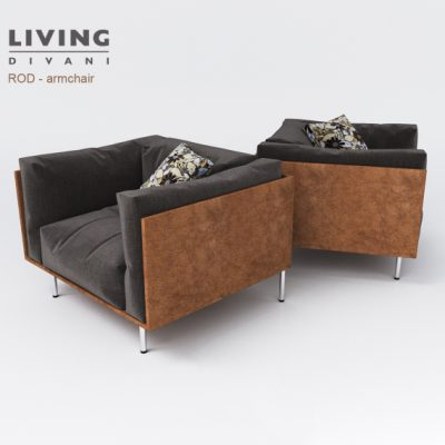 ROD Armchair 3D Model