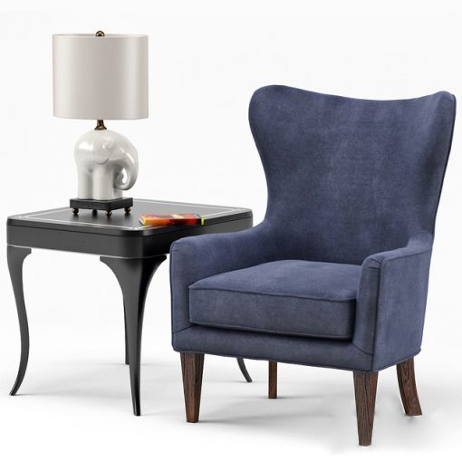Rachael and Flirt End - Table and Chair 3D Model
