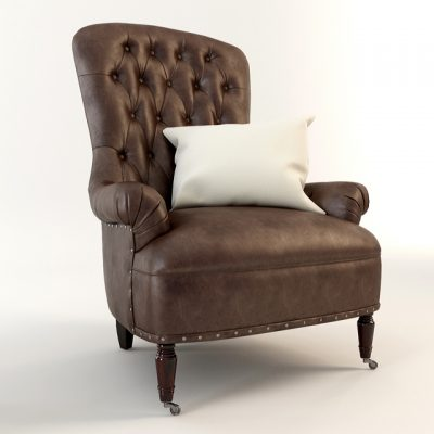 Radclife Tufted Armchair 3D Model