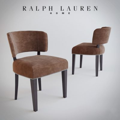 Ralph Lauren Home Cliff Dining Table & Chair 3D Model