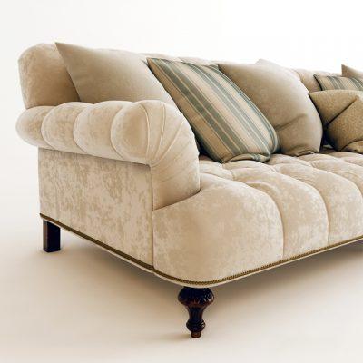 Ralph Lauren Indian Cove Lodge Sofa 3D Model