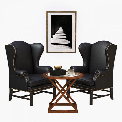 Ralph Lauren Table & Armchair 3D Model