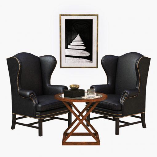 Ralph Lauren Table & Armchair 3D Model