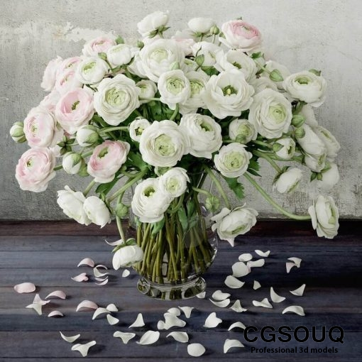 Ranunculus 2 Flower 3D model 2