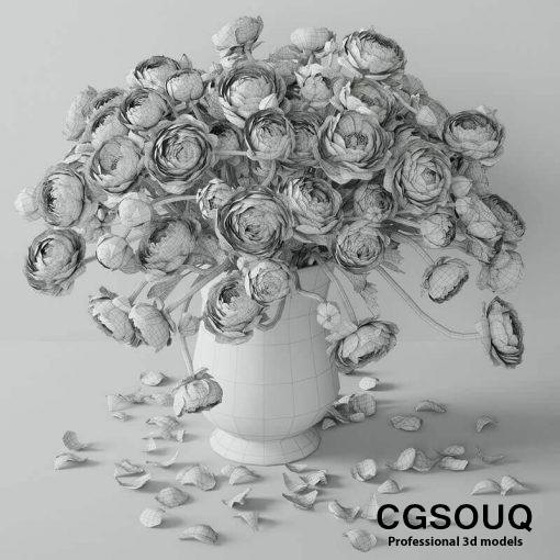 Ranunculus 2 Flower 3D model 3