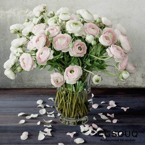 Ranunculus 2 Flower 3D model 5