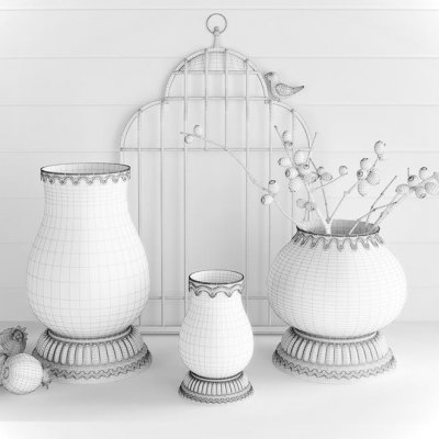 Rare decorative set 3D Model