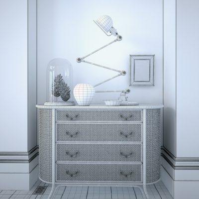 Rattan Chest 3D Model