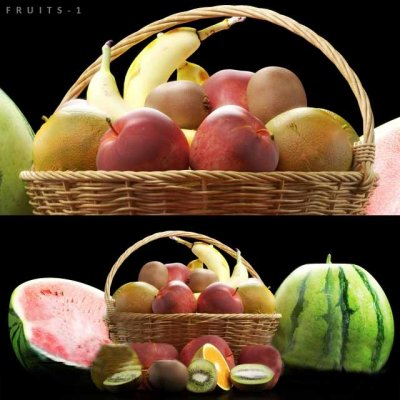 Realistic Fruits 3D model